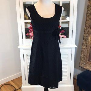 Ann Taylor black lace lined dress. 12P